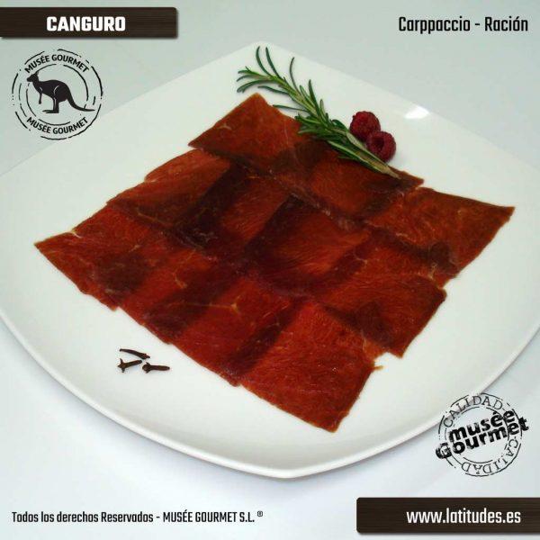 Carpaccio de Canguro (90 gr aprox.)