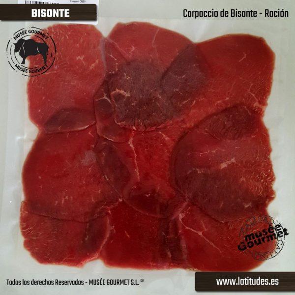 Carpaccio de Bisonte (90 gr aprox.)