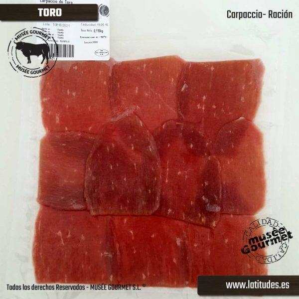 Carpaccio de Toro (90 gr aprox.)
