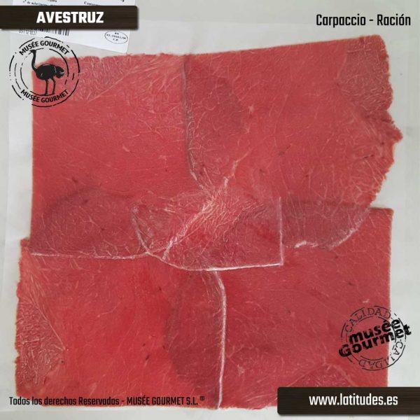 Carpaccio de Avestruz (90 gr aprox.)