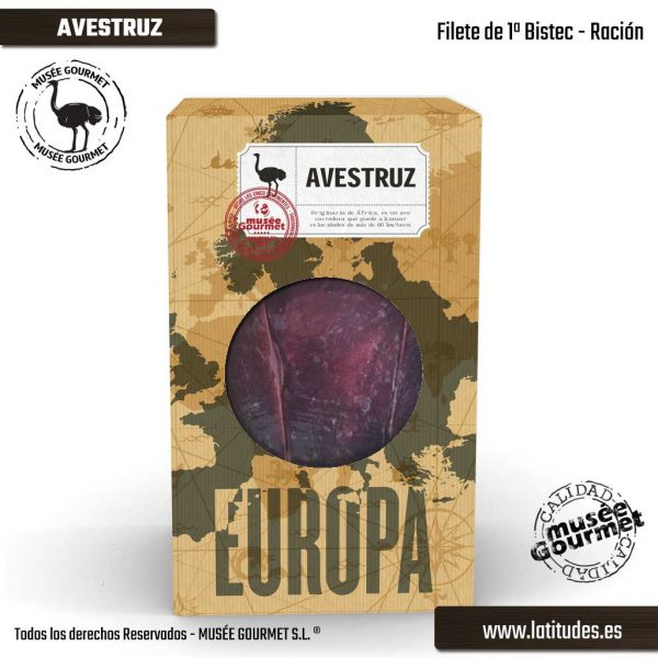 Filete 1ª Extra Avestruz Ración (380 gr aprox.)
